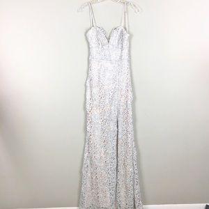 B. Darlin | Sequins Pink Maxi Party Dress